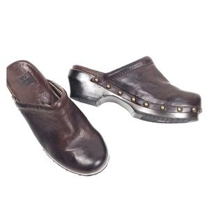 FRYE 6.5M Clara Campus Clog Slip On Shoes Studded